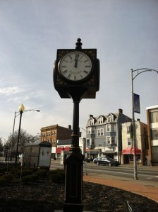 Clock at Surrey Square in Norwood